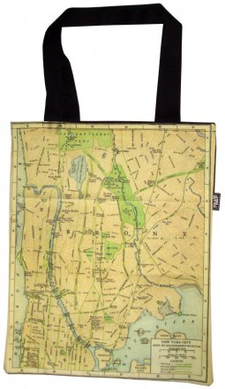 Tote Bag 33X40cm New York Old Map