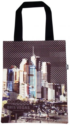 Tote Bag 33X40cm BrisVegas Purple