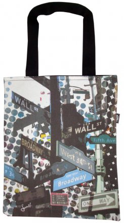 Tote Bag 33X40cm New York Street Signs
