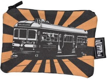 Ipod / Coin Case 13x9cm Tram Sunrise Orange