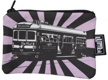 Ipod / Coin Case 13x9cm Tram Sunrise Pink