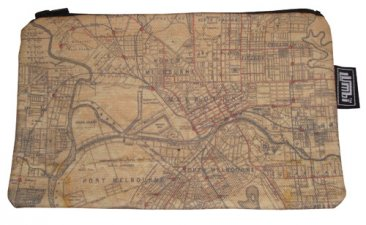 Pencil Case 18x10cm US Navy map of Melbourne