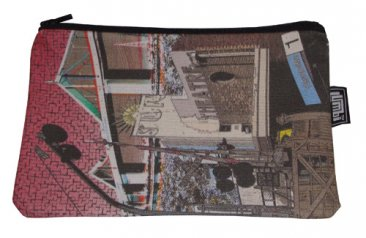 Pencil Case 18x10cm Yarraville Collage Red