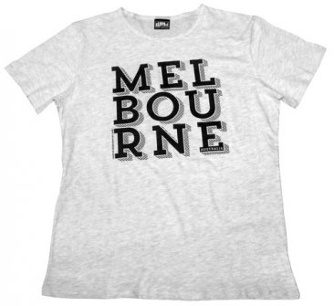 T-Shirt Melbourne Black Text